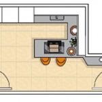 5-schita plan bucatarie 8 metri patrati mobila proiectata pe 3 laturi