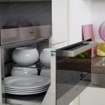 5-sertar depozitare vase integrat sub cuptor electric bucatarie moderna 10 mp