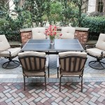 5-set Eastham pentru exterior masa 4 scaune si 2 fotolii balansoar Mobexpert