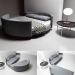 5-set de doua canapele care pot fi transformate intr-un pat rotund