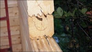 5-sistem de imbinare a popilor din lemn pentur constructia unui perete neintrerupt