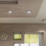 5-spoturi de iluminat montate pe tavanul din bucatarie