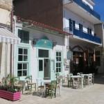 5-strada pietonala cu magazine si taverne traditionale sat Paralio Astros