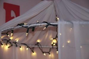 5-suport baldachin decorat cu luminite led pentru bradul de craciun
