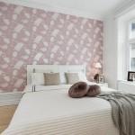 5-tapet decorativ in accentuarea peretelui de la capul patului unui dormitor scandinav