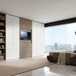 5-televizor si biblioteca integrate in dressing dormitor (11)