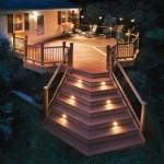 5-terasa si scara exterioara iluminate cu spoturi si stalpisori