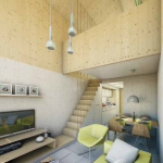 5-varianta amenajare interior casa modulara prefabricata 45 mp cu tot cu etaj Heijmans One