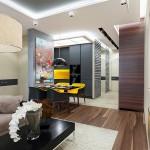 5-vedere din living spre bucatarie si hol apartament 2 camere semidecomandat