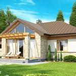5-vedere spate proiect casa parter suprafata locuibila 81 mp cu garaj