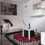 5-zona moderna de living cu canapea si mobilier sumar casa mica 37 mp