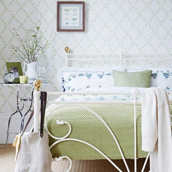 6-Pat metalic alb amenajare dormitor romantic