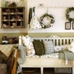 6-accente decorative verde olive living amenajat in stil rustic