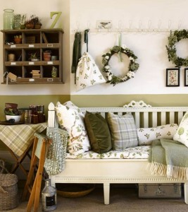 6-accente decorative verde olive living amenajat in stil rustic