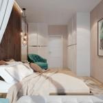 6-accente turcoaz in amenajarea unui dormtior in care predomina maroul si albul