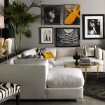 6-accentuarea canapelei cu ajutorul culorii peretilor si a tablourilor montate pe acestia