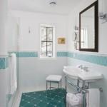 6-accentuarea peretilor din baie cu brau decorativ montat de jur imprejurul incaperii