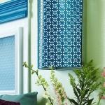 6-aplica perete DIY confectionata din plasa metalica vopsita in albastru