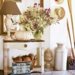 6-aranjament decorativ comoda vintage rustica din lemn hol casuta vacanta