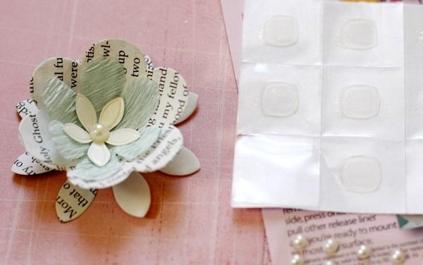 6-asamblarea si finisarea floricelelor din hartie material si margele