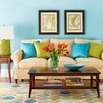 6-asortare pernute decorative in culori analog verde si albastru