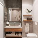 6-baie moderna apartament 2 camere amenajata in alb gri si bej