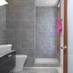 6-baie moderna cu gresie si faianta gri combinata cu insertii de mozaic alb