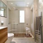 6-baie moderna minimalista finisata in crem gri si alb