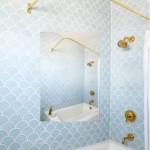 6-baie vintage cu pertii placati cu faianta model solzi