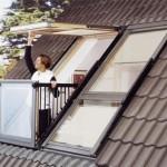 6-balcon Velux Cabrio obtinut prin deschiderea unei ferestre de mansarda