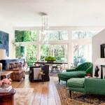 6-banchete otoman verde smarald decor living mare casa actor Patrick Dempsey