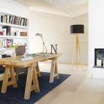 6-biblioteca si birou de lucru din living casa moderna Barcelona