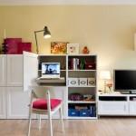 6-birou extensibil compact ascuns intr-un dulap din living