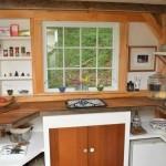 6-blat lucru bucatarie cabana mica din lemn