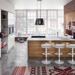 6-bucatarie amenajata in plan deschis cu livingul design minimalist inspiratie scandinava
