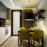 6-bucatarie moderna 9 mp cu accene retro si iesire in balcon