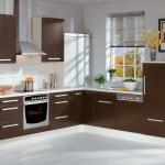6-bucatarie moderna cu mobila wenge cu alb pe doua laturi