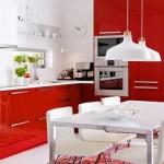 6-bucatarie moderna in alb si rosu