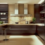 6-bucatarie moderna minimalista mobila wenge faianta crem