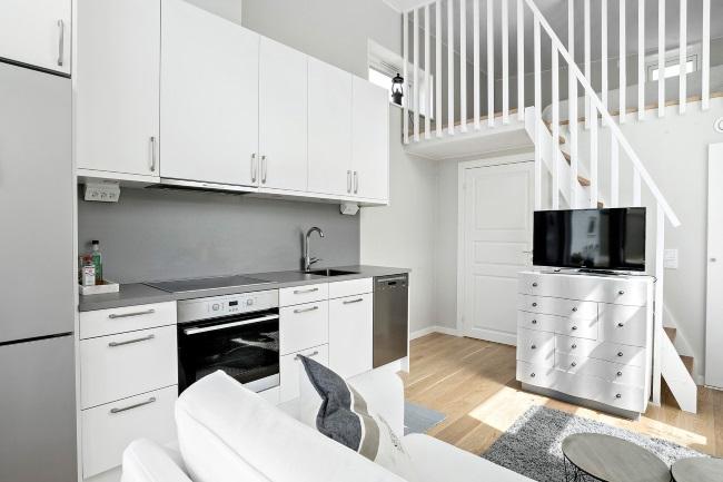6-bucatarie moderna open space casa mica 19 mp
