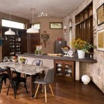 6-bucatarie open space amenajata in casa de zi