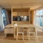 6-bucatarie open space cu loc de luat masa casa plutitoare Floatwing