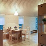 6-bucatarie si loc de luat masa casa mica din lemn prefabricata model DD26