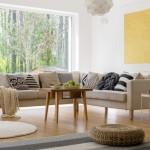 6-canapea coltar cu design minimalist in amenajarea unui living scandinav