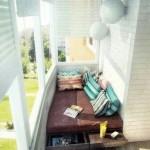 6-canapea fixa cu sertare retractabile dedesubt amenajare si organizare balcon mic