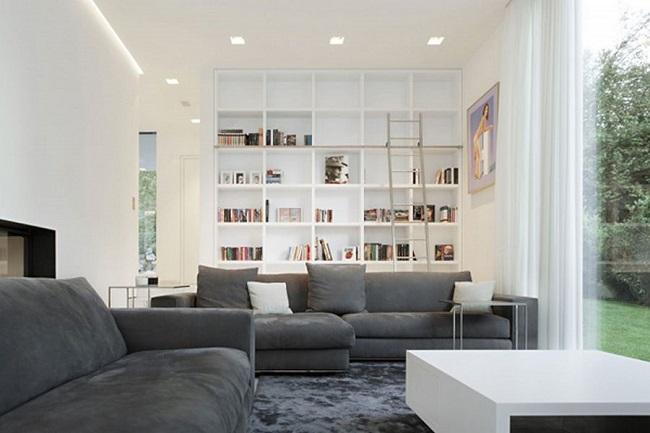 6-canapea gri pata de culoare living alb modern