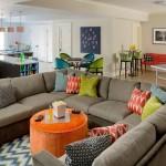 6-canapea mare pe 3 laturi in forma de U in amenajarea unui living open space
