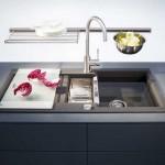 6-chiuveta de bucatarie din compozit cu picurator si robinet inalt