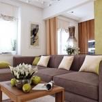 6-coltar maro nisipiu decor living modern open space