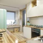 6-combinatie mobila alb cu lemn natur bucatarie amenajata stil scandinav